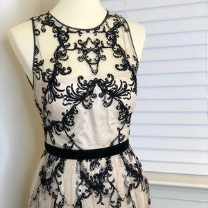 Stunning Gown: Beige & Black